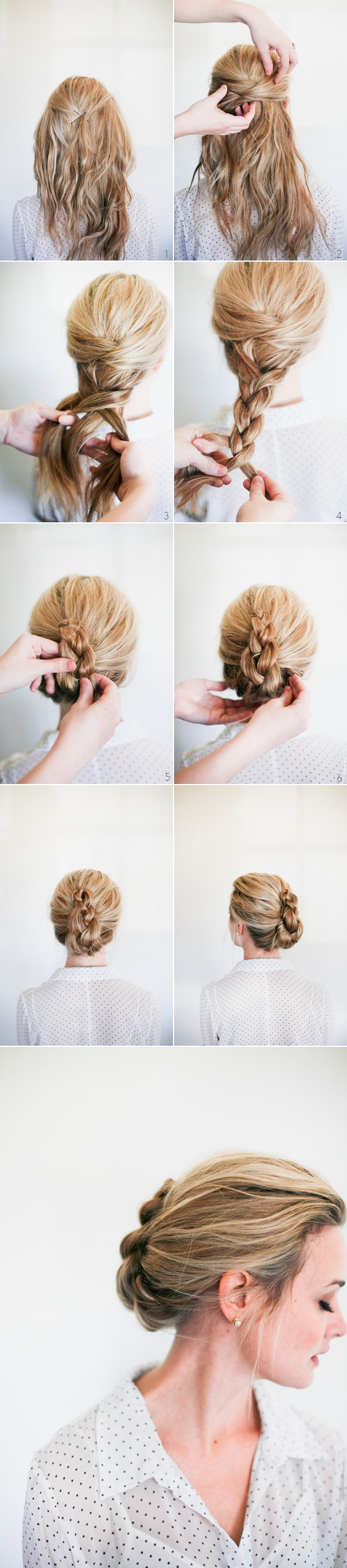 Wedding Hairstyle Tutorial Romantic Braided French Twist