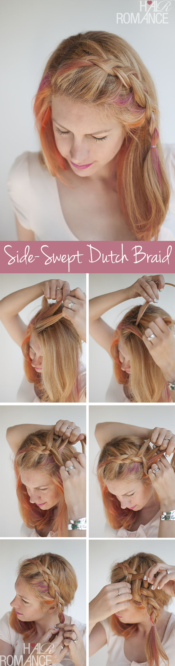 Hairstyle Tutorial How to do Side-Swept Dutch Braid