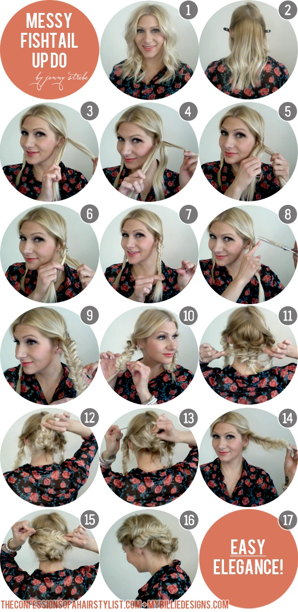 Step By Step Hair Tutorial How To Do Messy Fishtail Updo