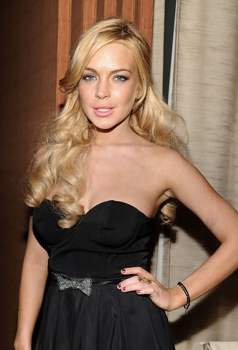 Lindsay Lohan Half Up Half Down for Prom