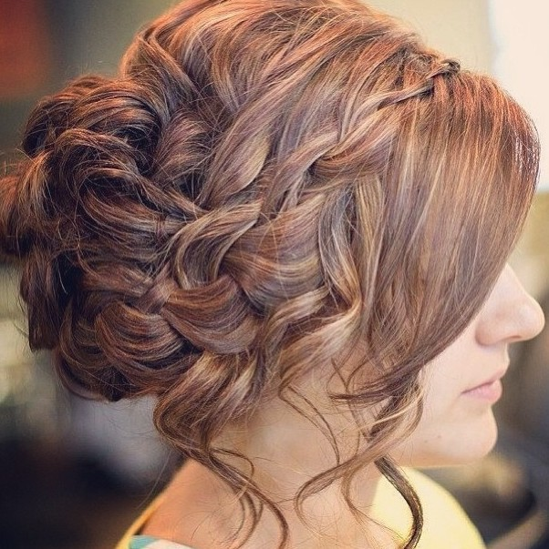 Side View of Romantic Messy Prom Hair