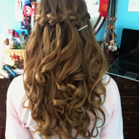 braided hairstyles for prom : Waterfall Braid for Prom Night Hairstyles Weekly