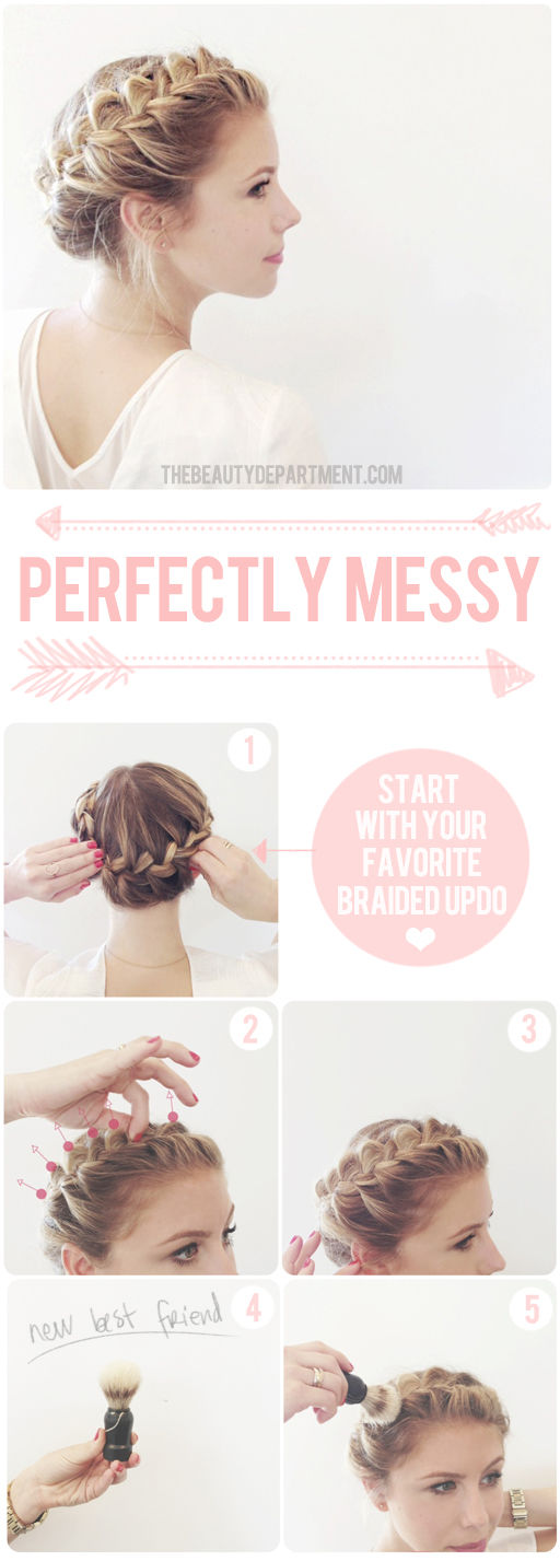 Pleasant Messy Braid Hairstyles Tutorial Braids Hairstyle Inspiration Daily Dogsangcom