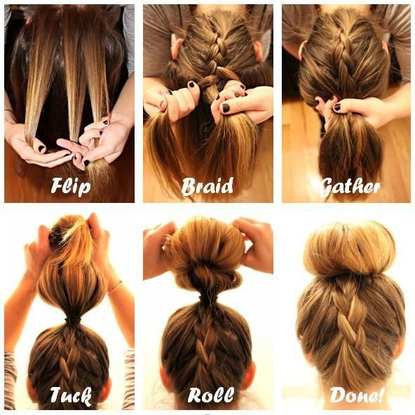 braid into a sock bun tutorial