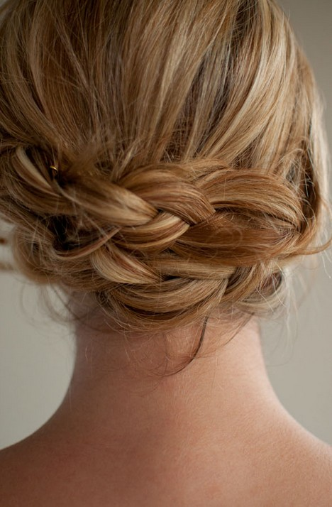 Back View of Low Braided Updo