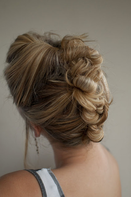 Bun Mohawk Updo for Summer