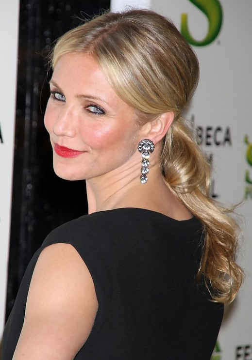 Cameron Diaz Long Hairstyle Ponytail Hairstyles Weekly