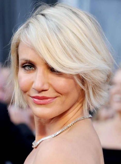 Phenomenal Short Straight Bob Cut With Bangs Cameron Diaz39S Short Short Hairstyles For Black Women Fulllsitofus