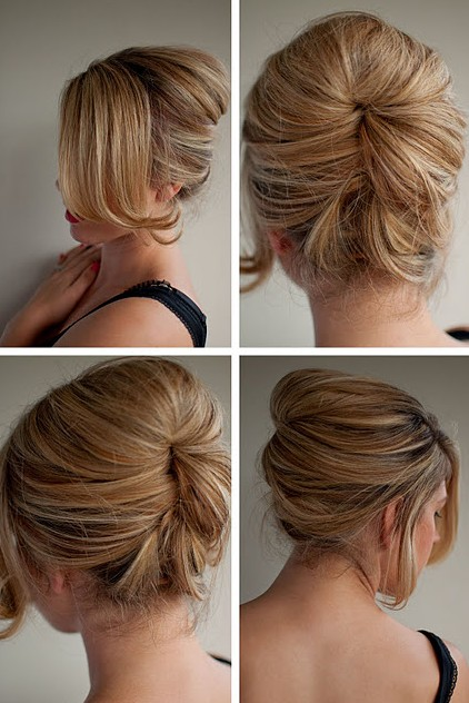Gorgeous Easy Makeup Tutorials For Brown Eyes: Beautiful Relaxed Beehive Updo