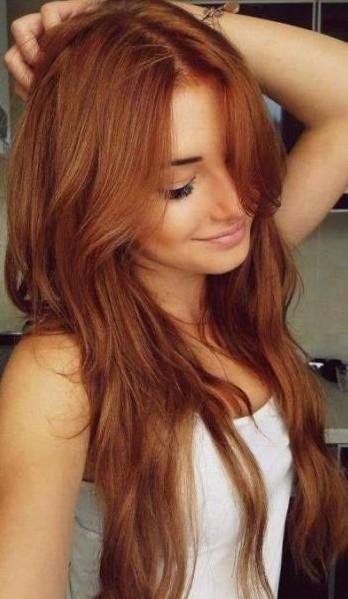 Stupendous Layered Auburn Red Hairstyle For Long Hair Hairstyles Weekly Short Hairstyles Gunalazisus