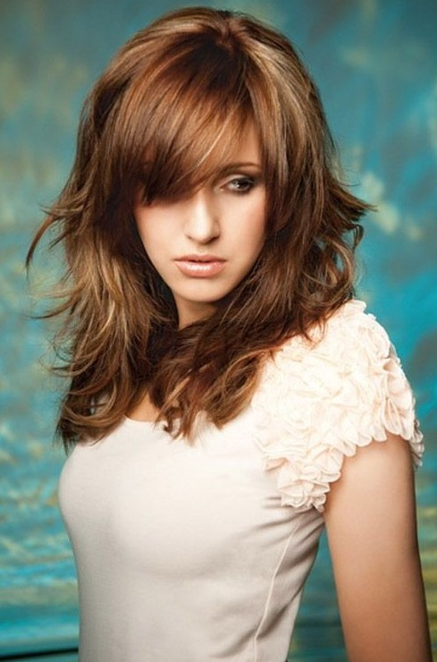 Pleasant Long Layered Hairstyles With Bangs Hairstyles Weekly Short Hairstyles Gunalazisus