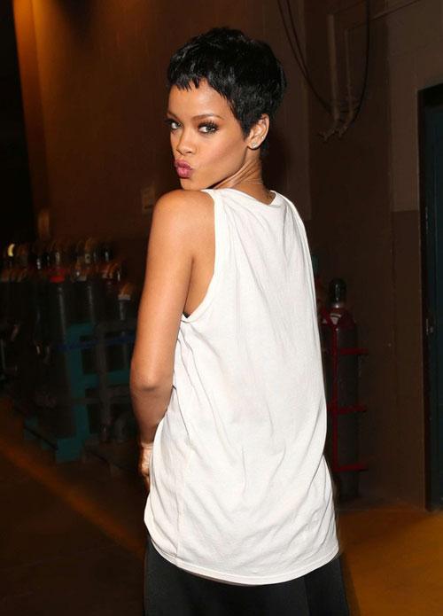 Rihanna Short Boycut for Black Women