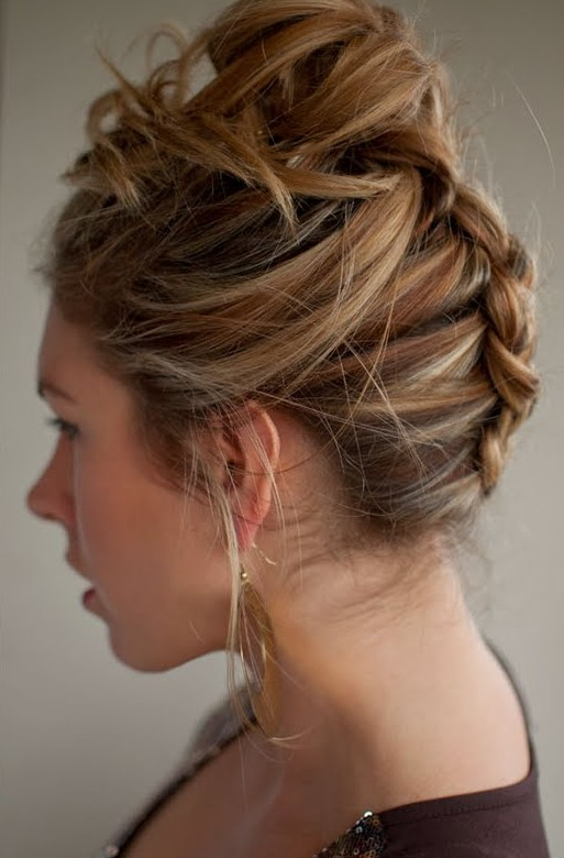 Side View of Reverse Braid