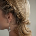 Side View of side ponytail hairstyles with braid