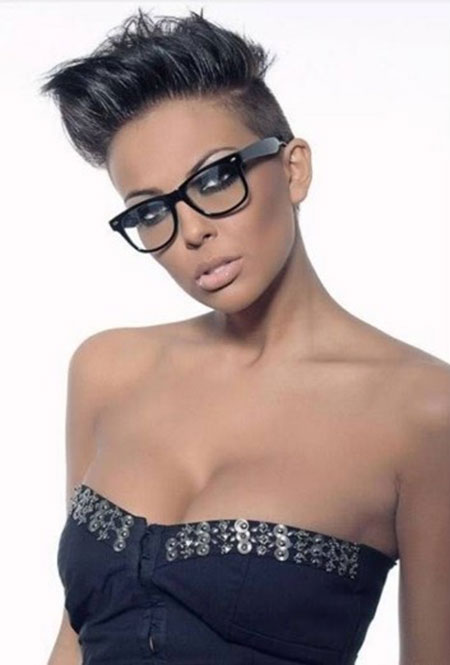 Spiked Short Straight Haircut for Black Women