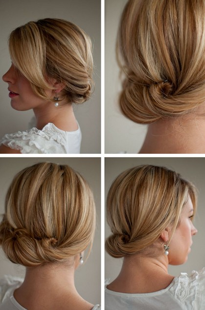 Smooth Simple Flattering Updo Hairstyle For Long Hair Hairstyles Weekly