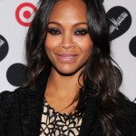 Zoe Saldana Long Black Wavy Hairstyles