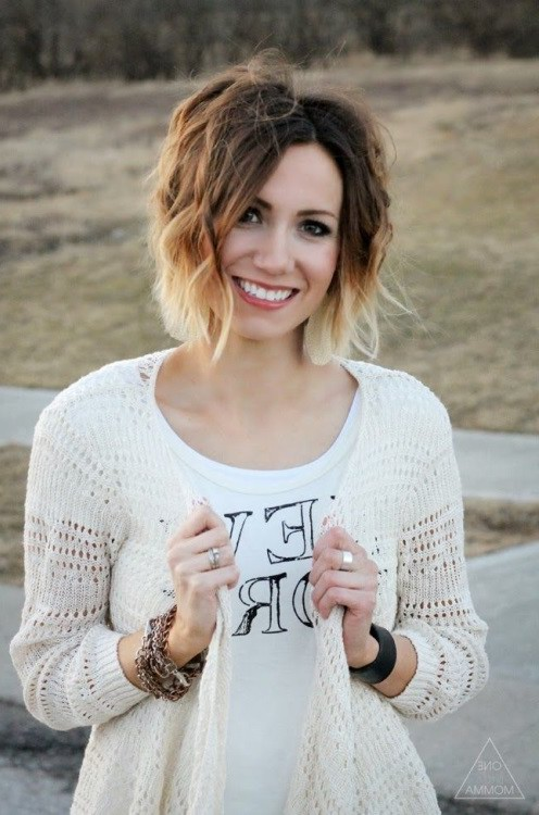 Cute Short Ombre Hair for Women