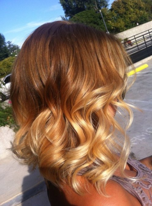 Short Layered Ombre Hair