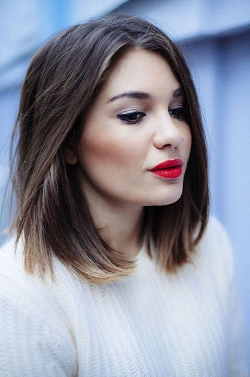 Short Straight Ombre Bob Haircut