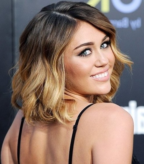 Celebrity Short Ombre Hair for Summer