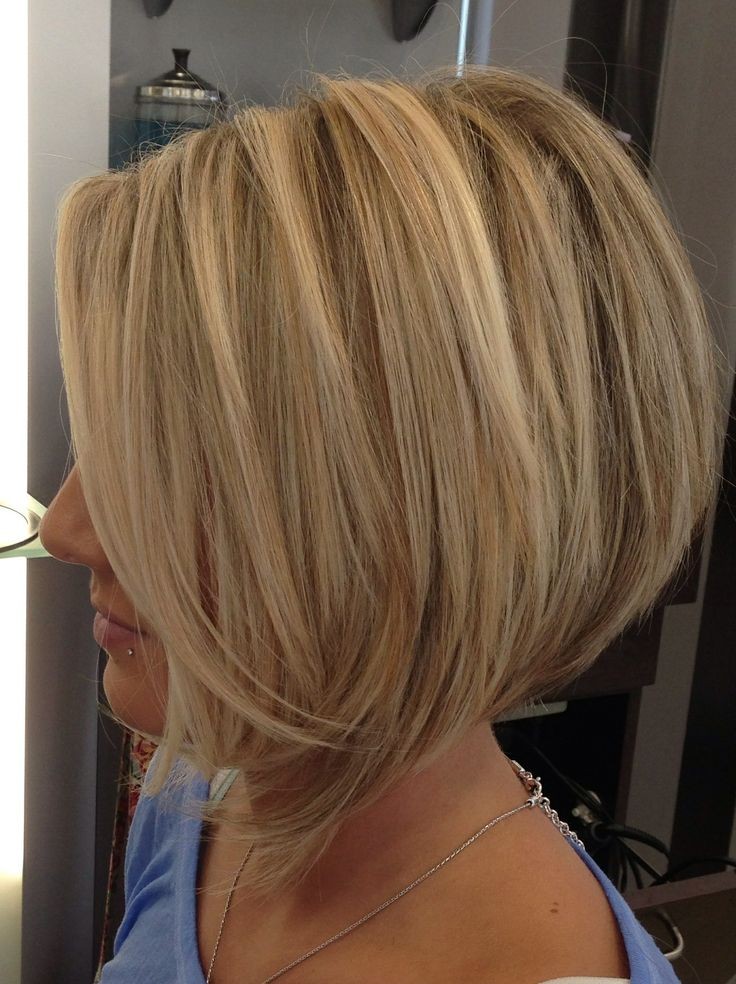 Angled Bob Haircut with Layers