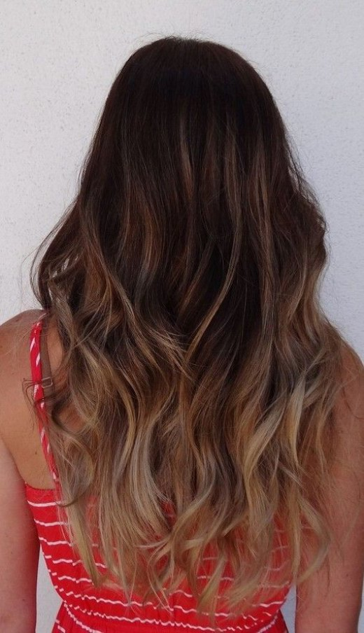 Back View Of Long Ombre Hair Hairstyles Weekly