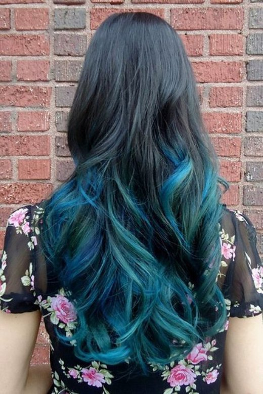 Black To Blue Ombre Hair Hairstyles Weekly