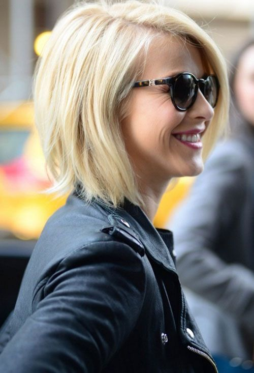 Celebrity Short Angled Bob Haircut