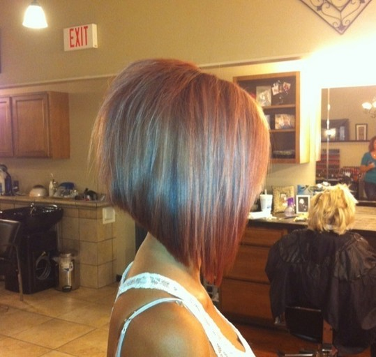 Cute Angled Bob Cut for Girls