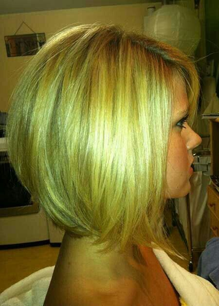 Cute Angled Bob Hairstyle for Girls