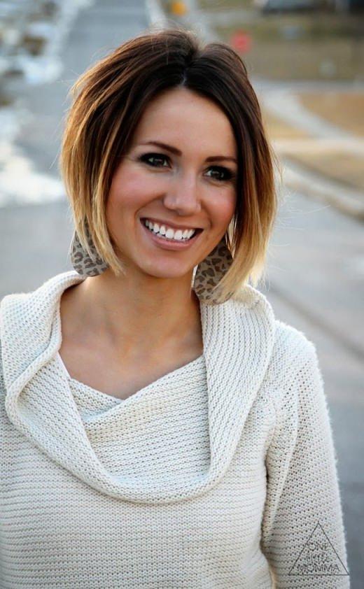 Cute Short Dark Brown to Blonde Ombre Hair - Hairstyles Weekly