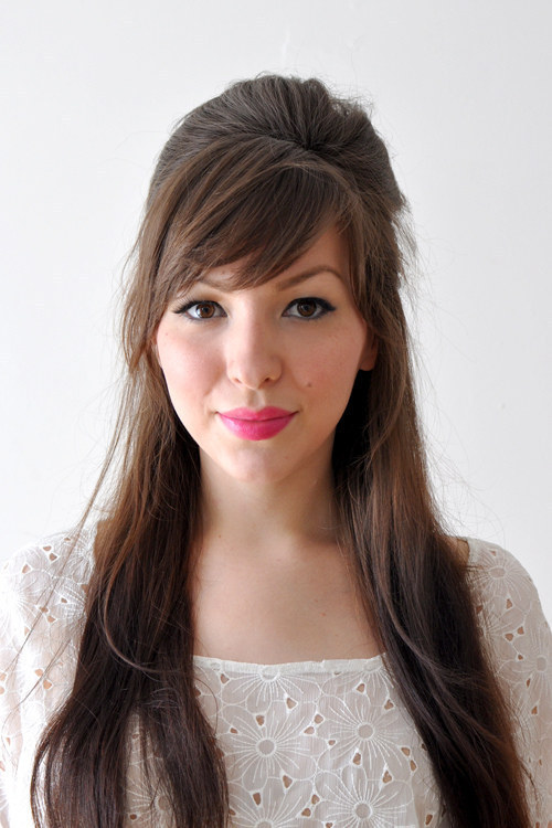 DIY Wedding Hairstyles: The Demi-Bouffant With Bangs