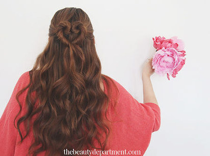 DIY Wedding Hairstyles: The Heart Bun for Long Hair