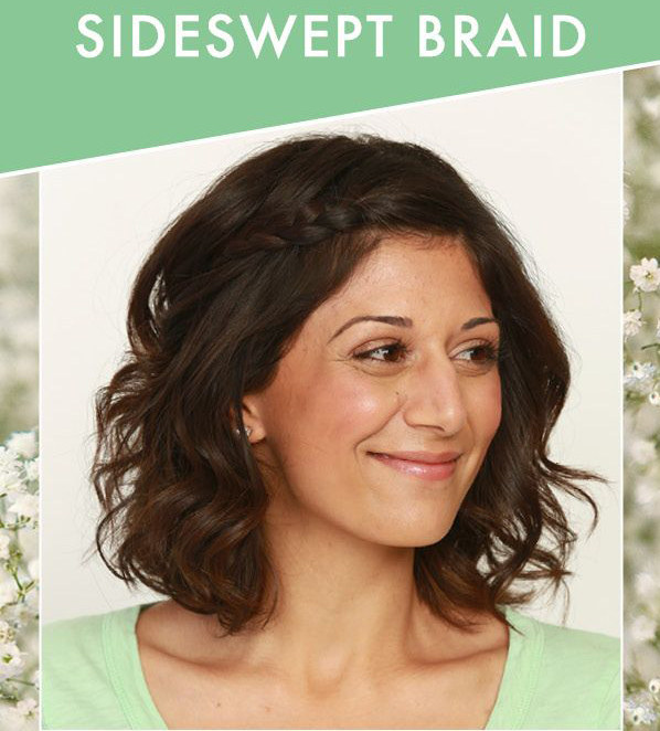 DIY Wedding Hairstyles: The Sideswept Braid for Medium Hair