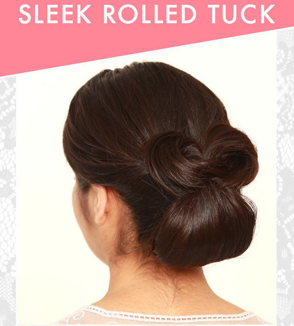 Diy Wedding Hairstyles The Sleek Rolled Tuck Updo For