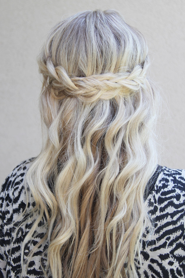 DIY Wedding Hairstyles: The Waterfall Braid for Wedding
