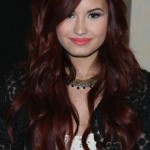 Demi Lovato Long Red WAvy Hairstyle