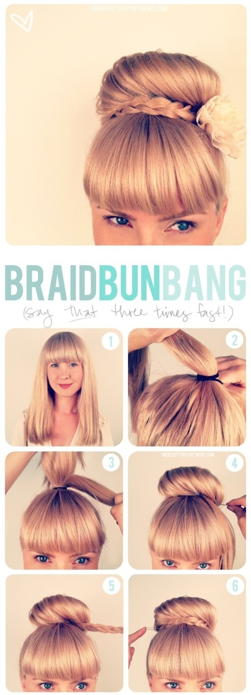 Easy Braided High Bun Updo Tutorial