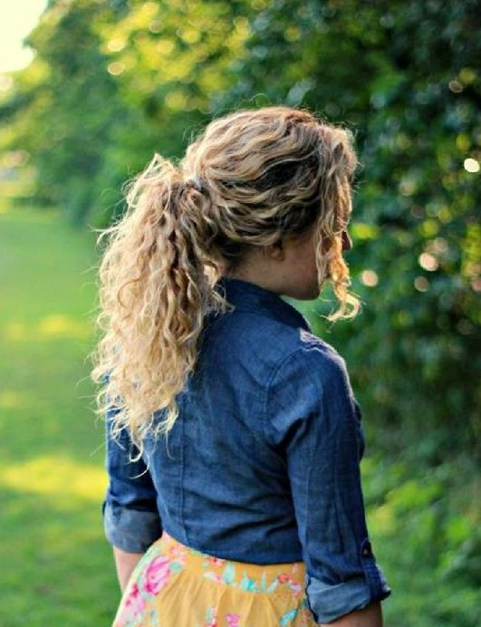 Fine 32 Easy Hairstyles For Curly Hair For Short Long Amp Shoulder Short Hairstyles Gunalazisus