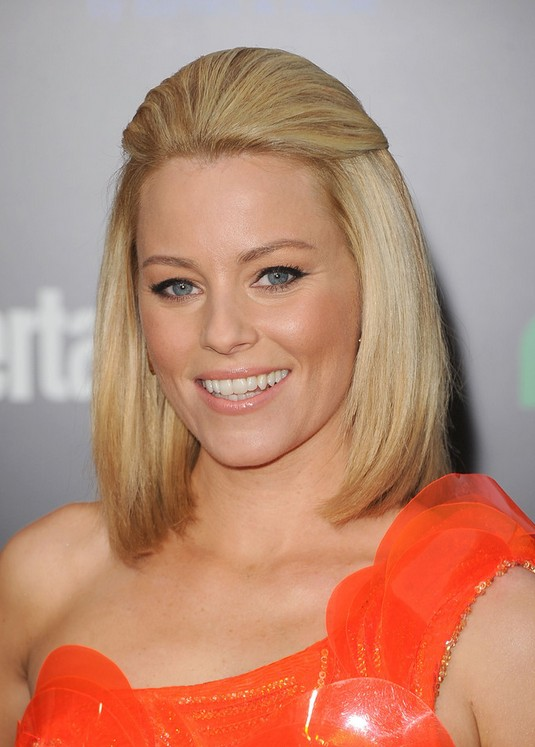 Elizabeth Banks Half Up Half Down Hairstyle for Medium Length Hair