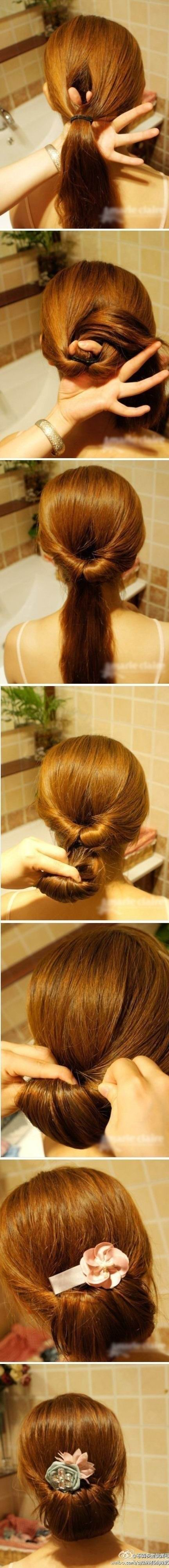 Hair Tutorial - How to do a Cute Chigon Updo