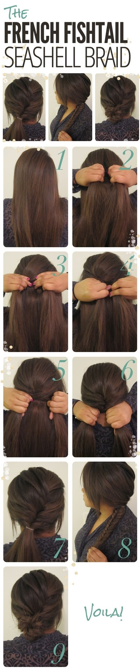 Hair Tutorial The French Fishtail Seashell Braid