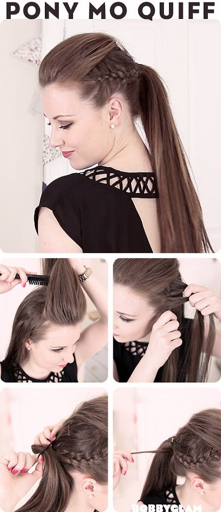Hair Tutorials - Mowhawk Quiff Ponytail for Summer