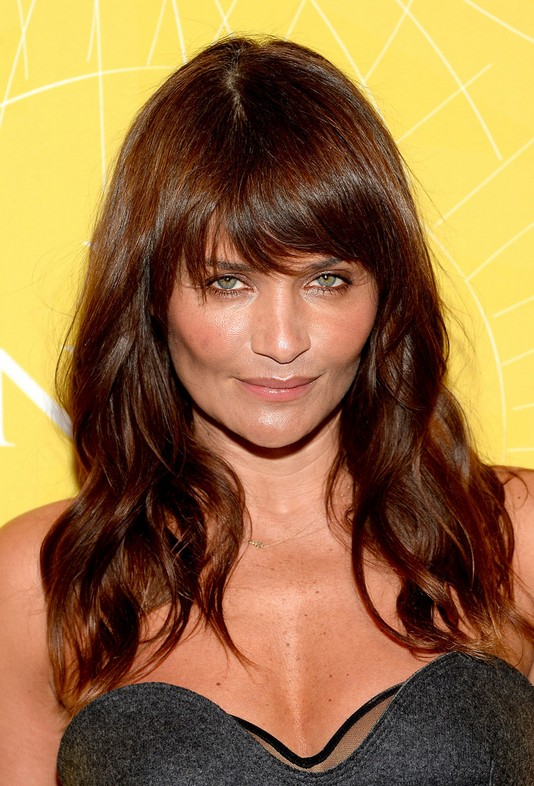 Celebrity Long Wavy Cut with Bangs for Thick Hair | Hairstyles Weekly