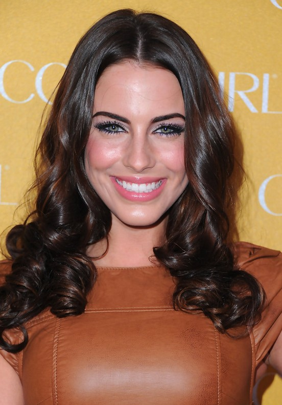 Jessica Lowndes Brunette Long Curly Hairstyle for Fall