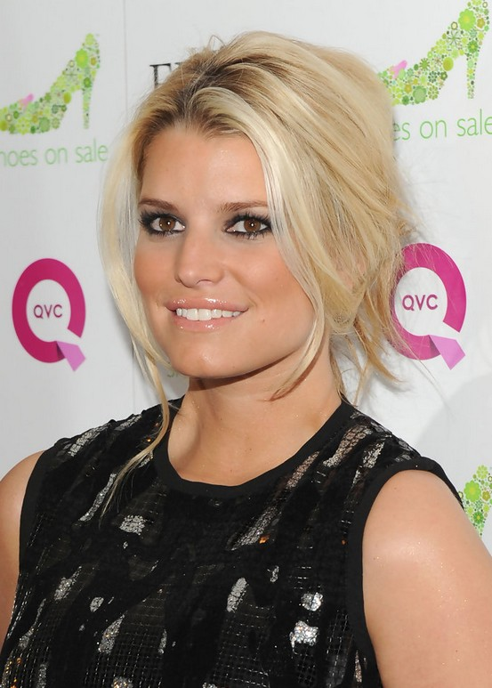 Jessica Simpson French Twist Updo for Women