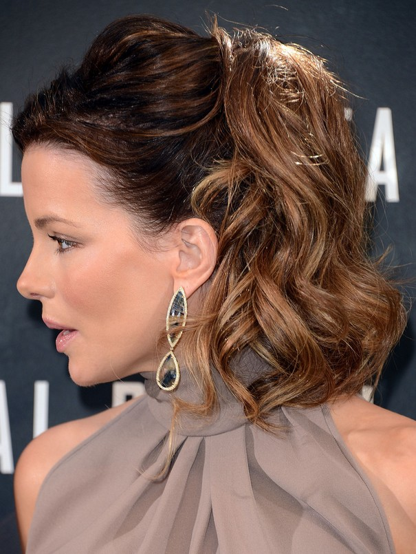 Superb Kate Beckinsale 1960S Inspired Bouffant Ponytail Hairstyle For Hairstyle Inspiration Daily Dogsangcom