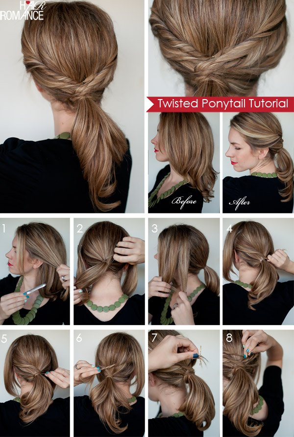 Long Hair Tutorials Twisted Ponytail Tutorial