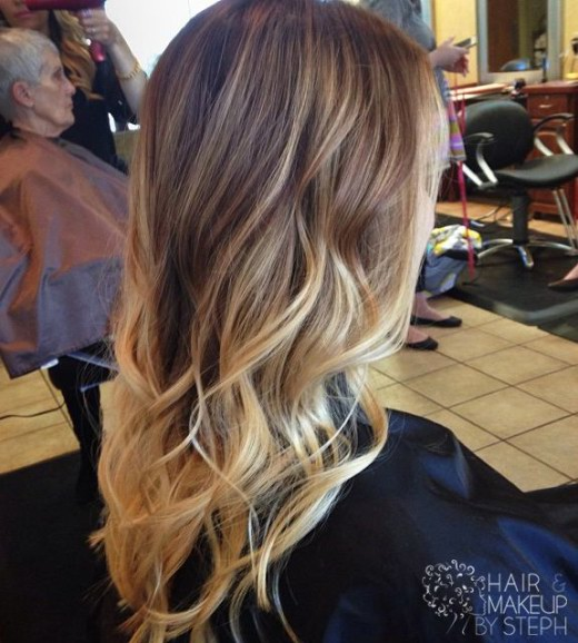 Cool Trendy Long Brown To Blonde Ombre Hair With Waves Hairstyles Weekly Hairstyles For Women Draintrainus